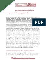 Obligaciones en Materia Fiscal(1)
