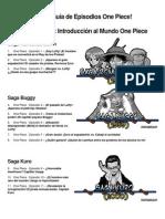 Guía de Episodios One Piece