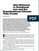 The Relation Between Managers' Emotional Intelligence and the Organizational Climate They Create