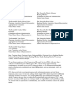 CRS Employees Letter Calling for Public Access to CRS Reports 10-22-2015