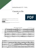 Berwald, Johann Gottfried  Concerto ex Dis