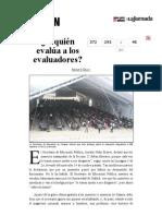 La Jornada- ¿Y Quién Evalúa a Los Evaluadores