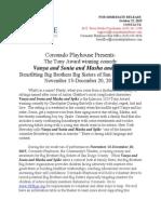 Coronado Playhouse presents