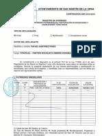 Declaración de bienes de Rafael Martínez Perez