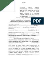 Modelo Adjudicacion y Liquidacion Cuentas en Participacion