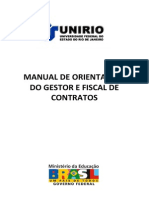 Manual de Orientacoes Do Gestor e Fiscal de Contratos - Unirio