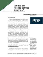La Actualidad Del Pensamiento Politico de Maquiavelo Antonio Hermosa