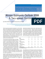 OECD Policy Insights No 22, African Economic Outlook 2005-2006, A Two-speed Continent