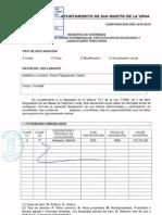 Declaración de bienes de Alvaro Pleguezuelo Castro