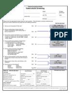 FOH-25 Tuberculosis Screening (M.25)