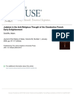 Judaism in the Anti-religious Thought of the Clandestine French Early Enlightenment - Adam Sutcliffe