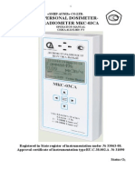 Dosimeter MKS-03SA Manual