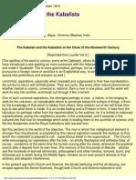 H P Blavatsky - The Kabalah & the Kabalists