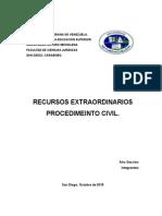 RECURSOS EXTRAORDINARIOS PROCEDIMEINTO CIVIL.