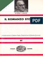 Gyorgy Lukacs Il Romanzo Storico