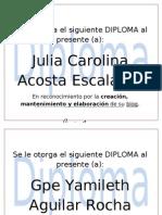Diplomas Finales