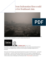 Haze Crisis From Indonesian Fires Could Be Worst Ever for Southeast Asia
