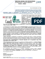 Nota de Prensa Canada