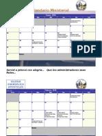 Calendario Ministerial 2016