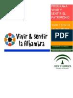 Dossier Vivir y Sentir La Alhambra 2015-2016