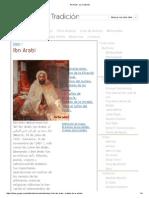 Ibn Arabi - La Tradición