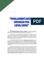 Parlamentarios Uruguayos 1830 - 2005