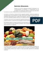 Nutrición Alimentaria