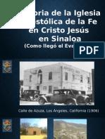 Presentación Historia de La Iglesia en Sinaloa