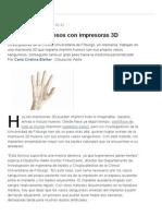 Buscan Hacer Huesos Con Impresoras 3D - Lanacion