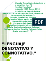 Lenguaje Denotativo y Connotativo.