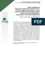 AMARAL, G. S. G.(2010) - IDS e a Sustentabilidade Forte - Uma Analise Teorica Dos Indicadores Para o Planejamento Da Transição à Sustentabilidade