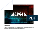 Alpha User Guide and EULA