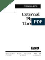 External Pipe Threads Tech Data Master