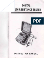Earth Resistance Tester Manual