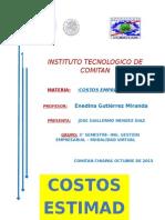 Costos Estimados-jose Guillermo Mendez Diaz. Unidad V