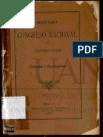 2º Congreso Instrucción 1891