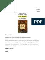 literary analysis traditional literature