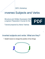 skills 15-19 inverted subjects and verbs
