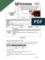 Examen Final-Diseño y Evaluacion de Proyectos