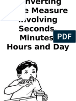Converting Time Measure Involving Seconds,