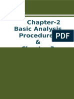 Basic Analysis Procedures and Analytical Mix