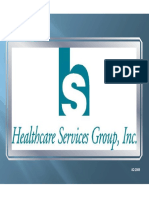 HCSG Healthcare Services Group Q4 2009 Presentation
