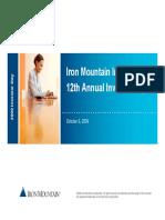 IRM Iron Mountain Investor Day 2009 Presentation Large File