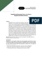 Bangladesh and International Trade-Acase Study on Bd-India Bilateral Trade