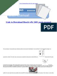 Bosch wfk 2401 manuals.