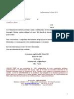 Lettre Aux Élus Réunionnais Pour La Déclaration de Paris