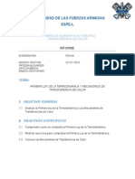 Informe de La Primera Ley de La Termodinamica