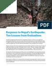 Response to Nepal's Earthquake