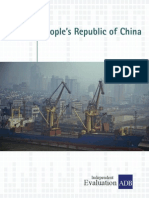 Country Assistance Program Evaluation for the People's Republic of China
