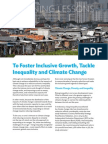 To Foster Inclusive Growth, Tackle Inequality and Climate Change